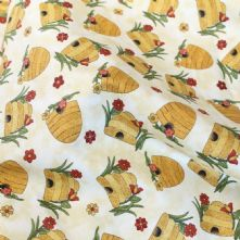 Bee Hive 100% Cotton Fabric
